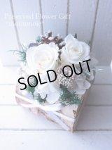 【THANKS!】結婚式のフラワー電報に♪白いきりかぶ
