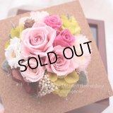 【THANKS!】結婚式のフラワー電報に♪アンティークピンクのフレーム(M)